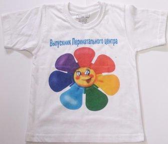 Логотип на детской футболке. Прямая цифровая печать
