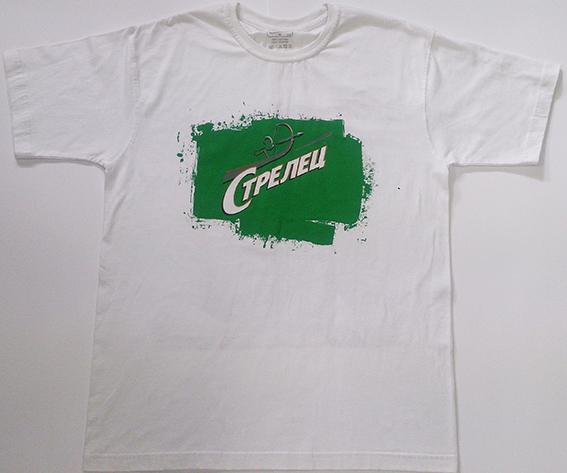 Рисунок с цифровой печатью на бело футболке
