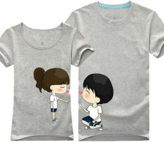 Серые парные футболки