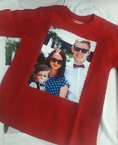 Цифровая печать фото на футболках