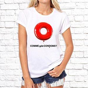 """Футболка """"Comme gde Condoms"""""""