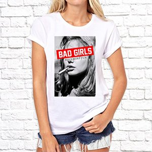 "Фото футболки ""Bad girls have more fun"""