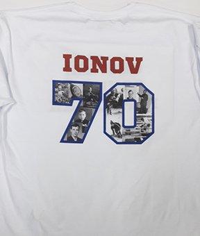 Фото именной футболки с надписью